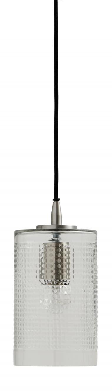 Nordal, Bright Cylinder-valaisin, Kirkas lasi, Musta kangasjohto