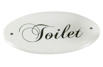 Ib Laursen, Toilet-kyltti, Emaloitu