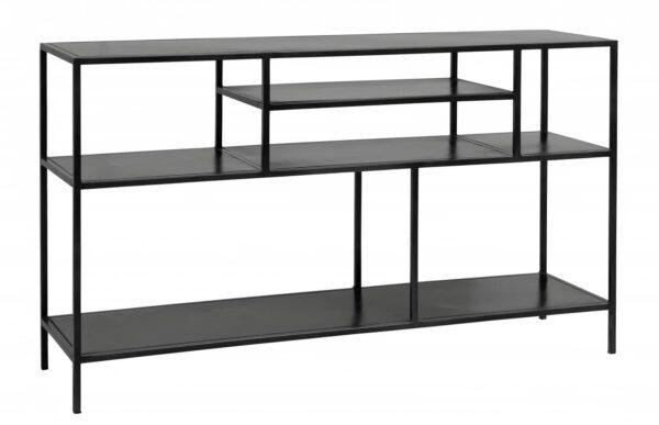Nordal Display rack-sivupöytä/hylly, Metalli, Musta