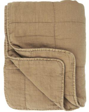 Ib Laursen, Quilt-torkkupeite, 130x180cm, Konjakki