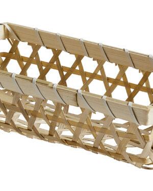 Nordal, Wickerwork -kori, Bambua, 13 x 27 x 6 cm, Luonnonvärinen