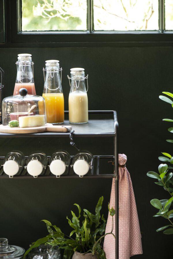 Ib Laursen, Bar table, Sivupöytä renkailla, Metalli, Factory black