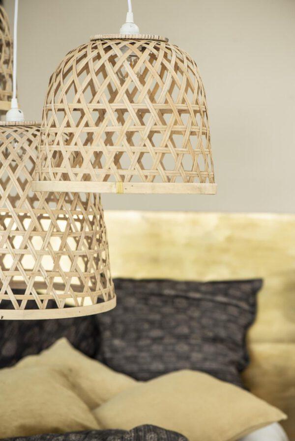 Ib Laursen, Bamboo hangin lamp, halk. 34cm