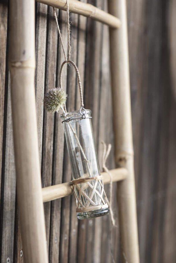 Ib Laursen, Tube-maljakko, Bambukahvalla, Korkeus 15cm