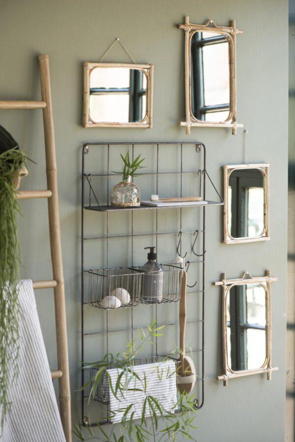 Ib Laursen, Bamboo-peili, Koko lev.20,5 x kor. 26,5cm