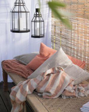 Ib Laursen, Tyynynpäällinen 40x60cm, Pellavaa, Aprikoosi