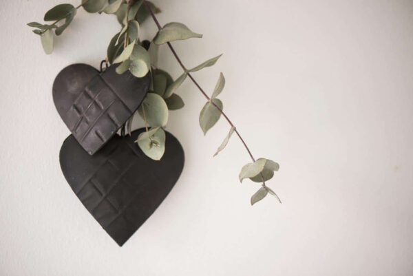 Ib Laursen, Sydän koriste, Metallia, 7cm, Musta