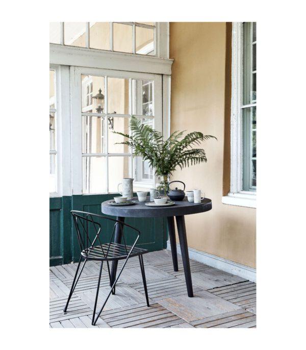 Nordal Classic-tuoli, Musta metalli/Tummaharmaa istuinpehmuste