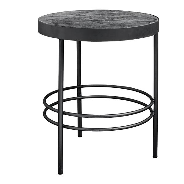 Nordal, Midnight-sohva-/sivupöytä, Musta marmorikansi